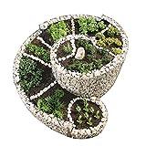 bellissa Gabionen-Kräuterspirale'Die Große' - 95600 - Steinkorb-Kräuterschnecke - Bausatz aus frostsicheren Materialien inkl. Trennfolie - 200 x 150 x 20/80 cm