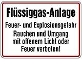 LEMAX® Schild Alu Flüssiggas-Anlage Feuer- u. Explosionsgefahr 250x350mm