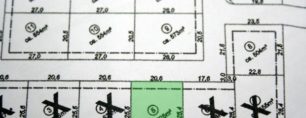 Bebauungsplan erhalten und Grundstücksreservierung