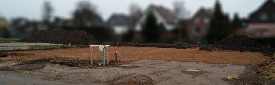 Haus bauen: 2.) Erdarbeiten zur Vorbereitung des Bodengrunds