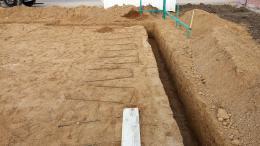 Streifenfundament ausgegraben