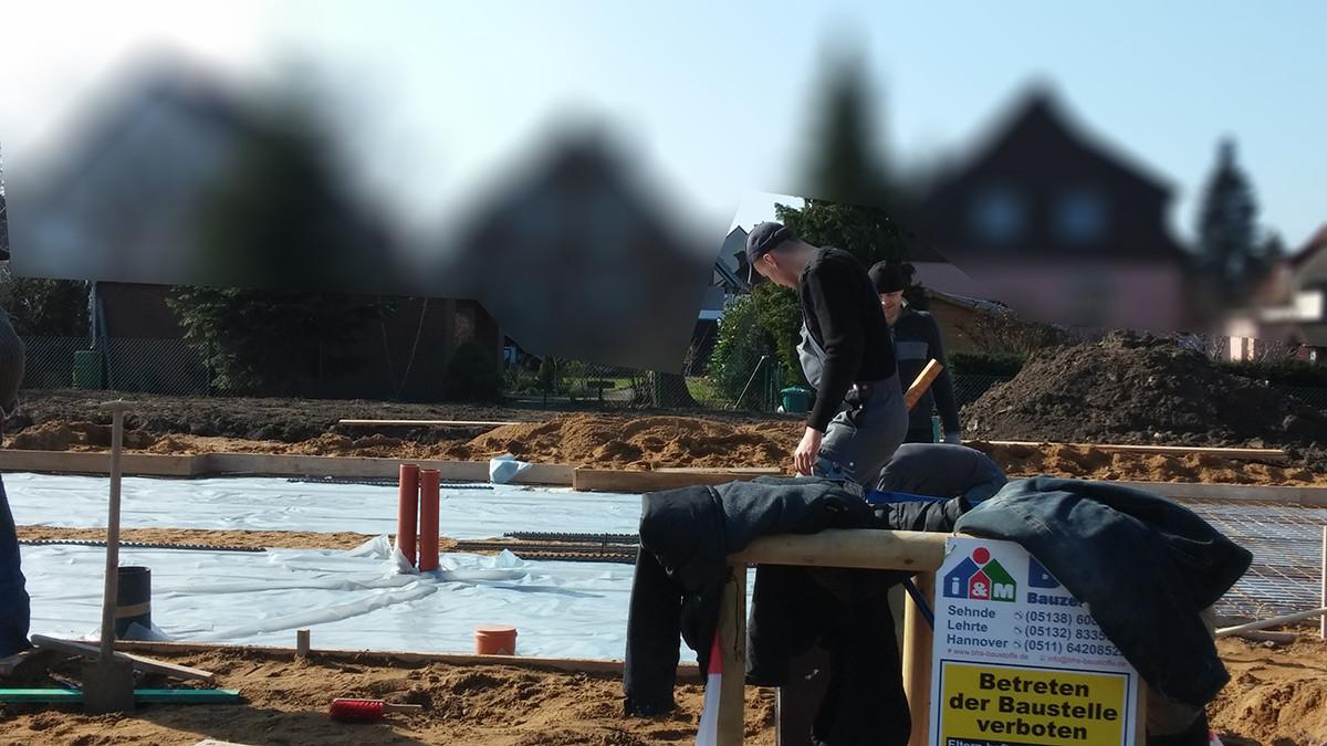 Erstaunlich Bodenplatte betonieren: Bewehrung verlegen und Beton gießen NS66