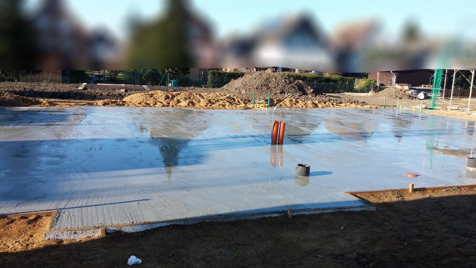 Bodenplatte Betonieren Bewehrung Verlegen Und Beton Giessen