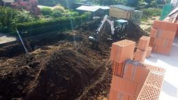 Baggerarbeiten für Grabenkollektor