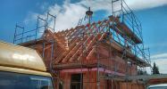 Richtfest: Der Dachstuhl steht