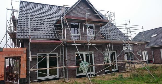 Klinkerarbeiten: Haus fertig geklinkert