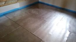 Fußbodenheizung Abdeckbleche