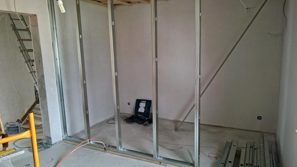 trockenbau anleitung trockenbauwand aufstellen so geht 39 s. Black Bedroom Furniture Sets. Home Design Ideas