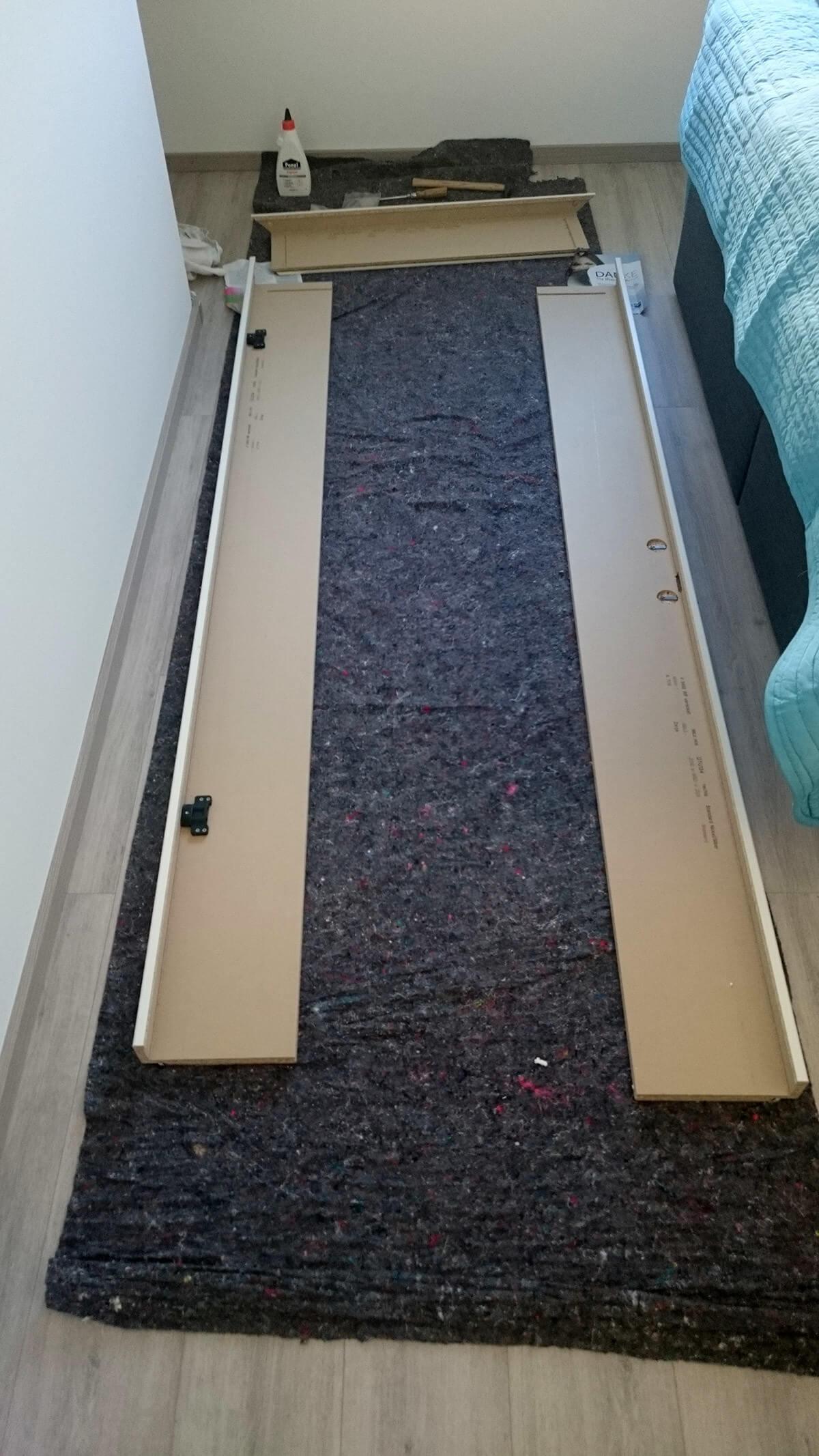 zimmert ren innent ren einbauen in eigenleistung teil 2. Black Bedroom Furniture Sets. Home Design Ideas