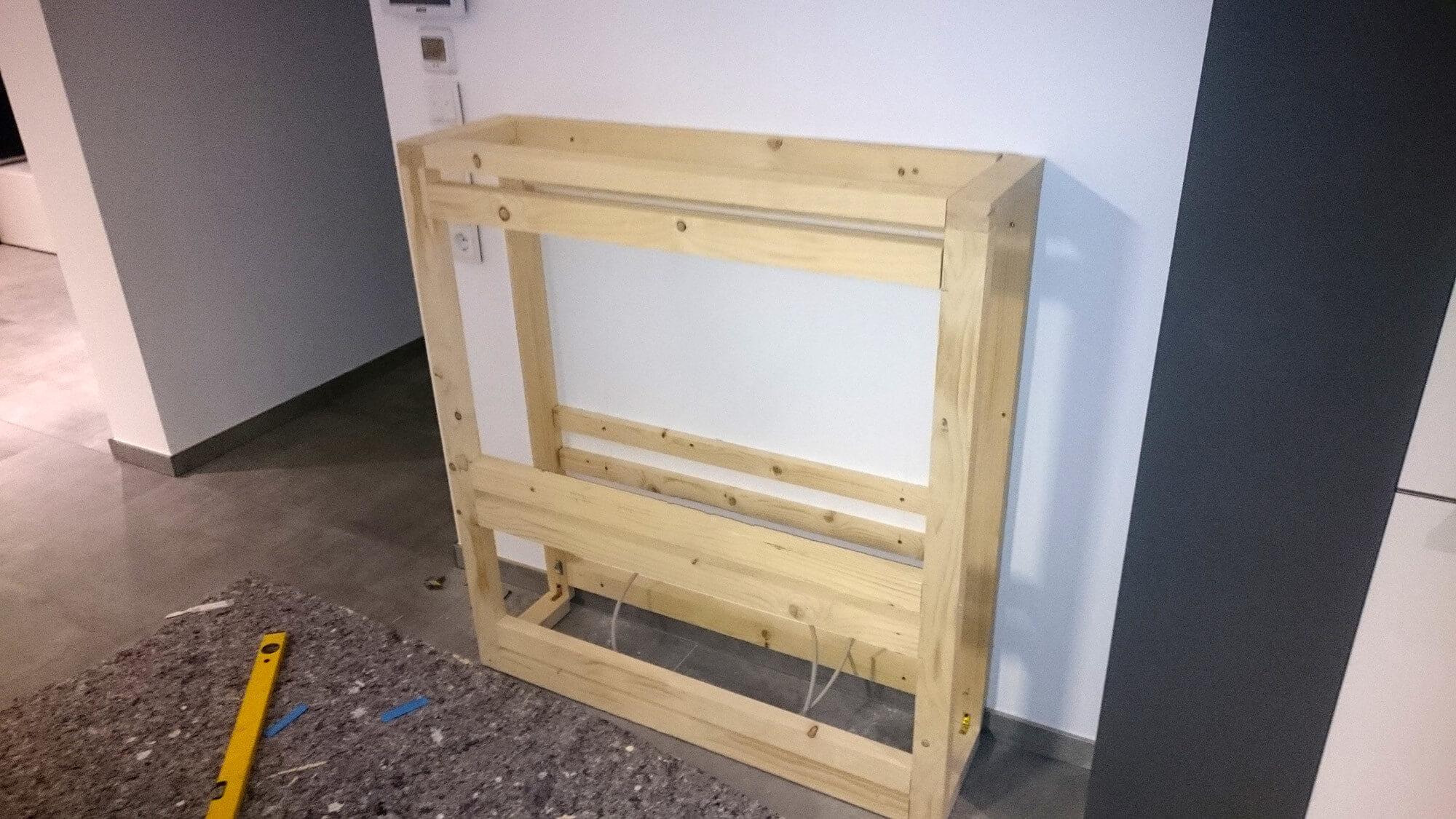elektrokamin selber bauen wasserdampf feuer effekt aus einem elektrokamineinsatz. Black Bedroom Furniture Sets. Home Design Ideas