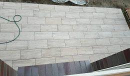 Terrasse aus Holzoptik Keramikplatten