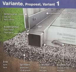 Biohort Fundament: Alu-Bodenplatte