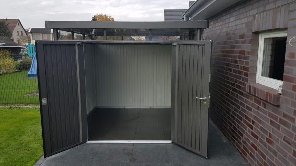 Biohort Highline: Hier der Metall-Geräteschuppen mit Doppeltür