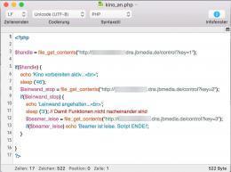 PHP-Script für Heimkino vorbereiten