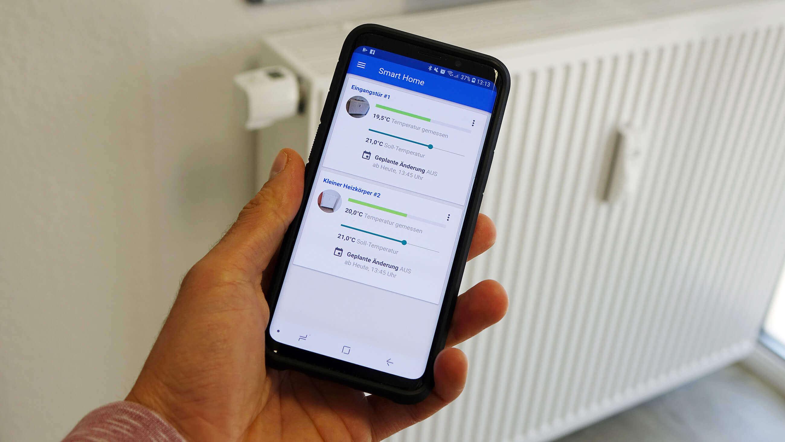 Heizkörperthermostat mit dem Smartphone steuern