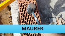 Maurer Gewerk mini: Hammer auf Poroton