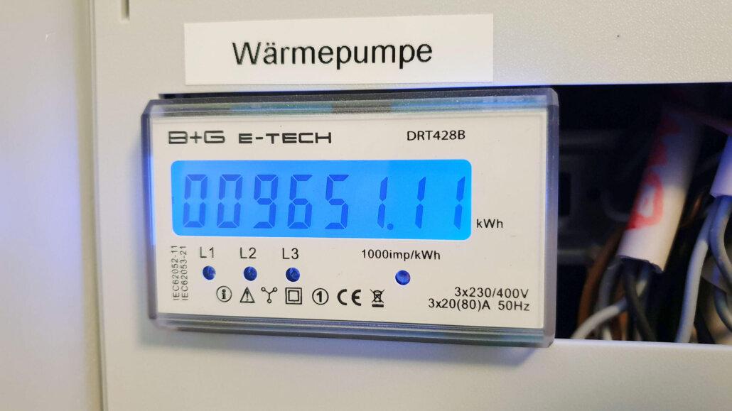 Stromzähler für Wärmepumpe