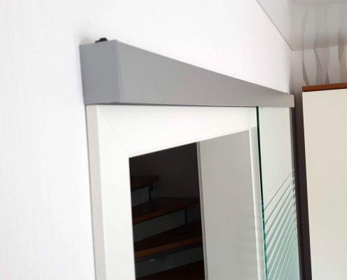 Glasschiebetür Wandmontage