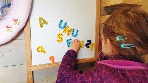 Magnet-Whiteboard im Spielturm