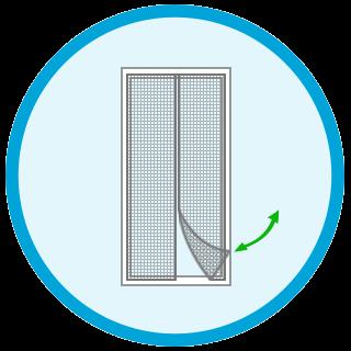 Fliegengitter Vorhang (Magnet)