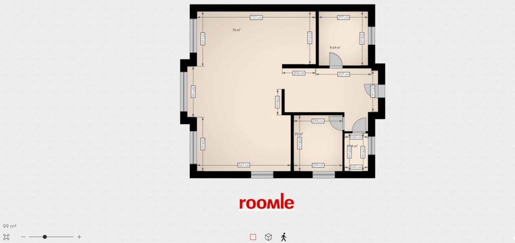 Roomle Online Grundriss zeichnen - Erdgeschoss