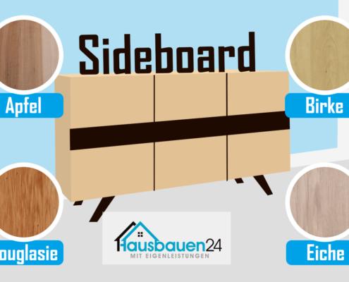 Sideboard: Möbel Holzarten - Ahorn, Apfel, Birke, Birnbaum, Buche, Douglasie, Eiche, Erle
