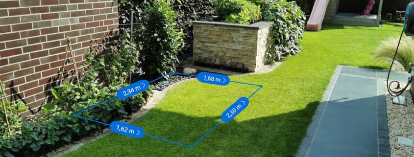 Außenküche Abmessungen - Visualisierung im Garten