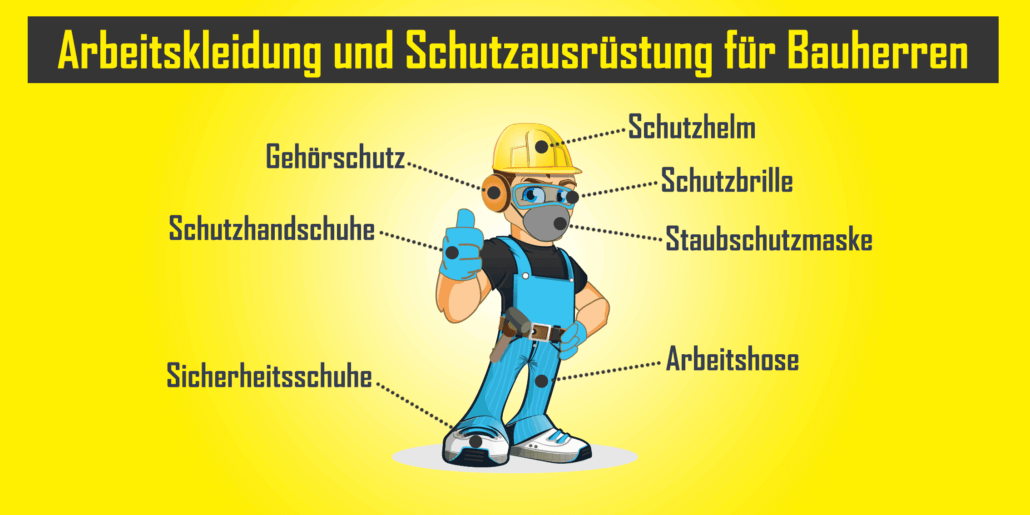 Arbeitskleidung und Schutzausrüstung für Bauherren