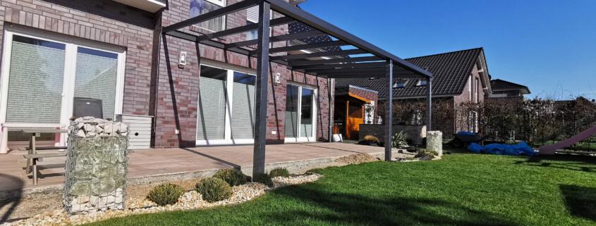 Alu-Terrassenüberdachung selber bauen
