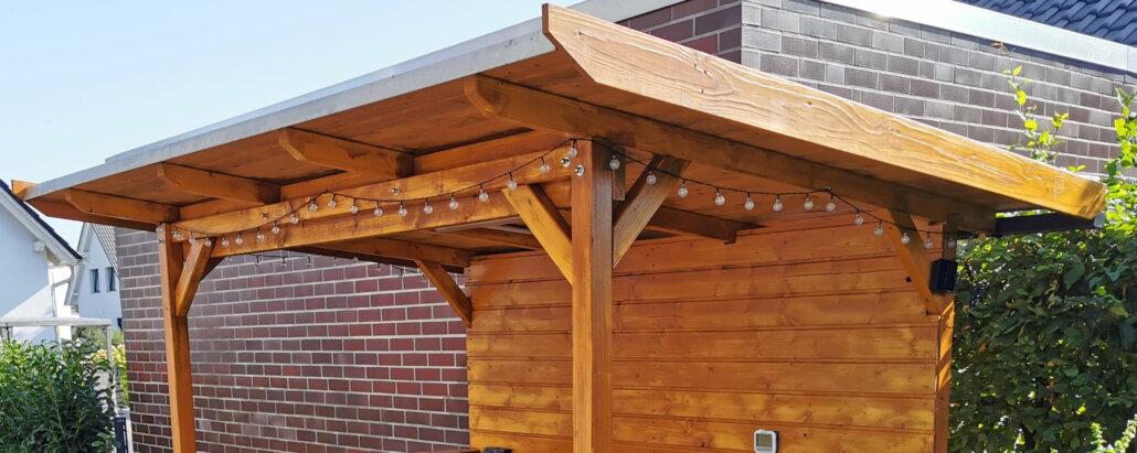 Holz-Tragwerk für Überdachung