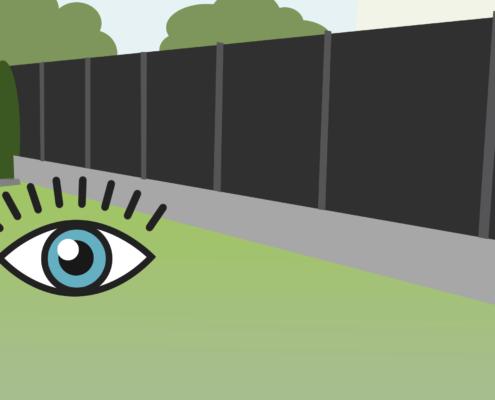 Sichtschutz-Zaun